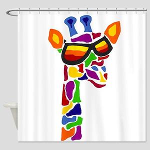 Giraffe in Sunglasses Shower Curtain