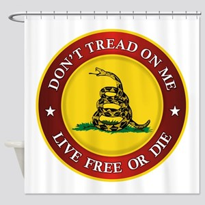 DTOM Gadsden Flag (logo) Shower Curtain
