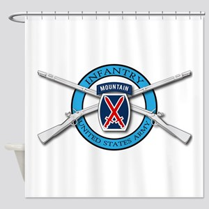 10th Mountain Muskets Shower Curtain