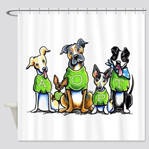 Adopt Shelter Dogs Shower Curtain