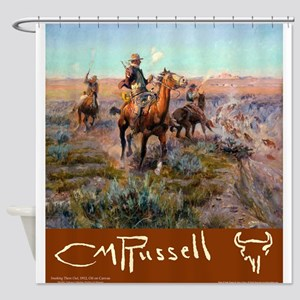 Russell Large Poster Shower Curtain