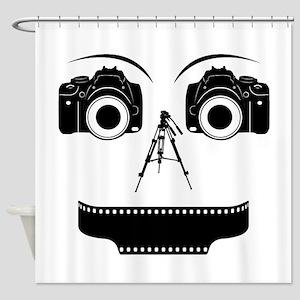 PHOTOGRAPHER FACE Shower Curtain