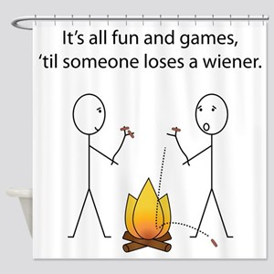 Its All Fun and Games Shower Curtain