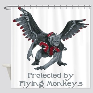 Protected by Flying Monkeys Shower Curtain