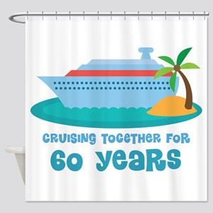 60th Anniversary Cruise Shower Curtain