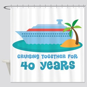 40th Anniversary Cruise Shower Curtain