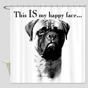 Bullmastiff Happy Face Shower Curtain