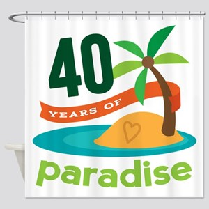 40th Anniversary (Tropical) Shower Curtain