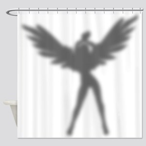 Sexy Angel Silhouette Shower Curtain