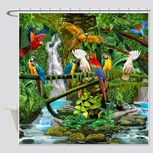 Parrots in Paradise Shower Curtain