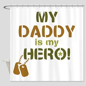 Dog Tag Hero Daddy Shower Curtain