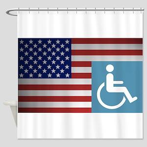 Disabled American Veteran Shower Curtain