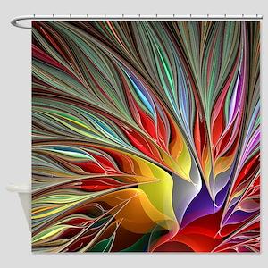 Fractal Bird of Paradise for All Ov Shower Curtain