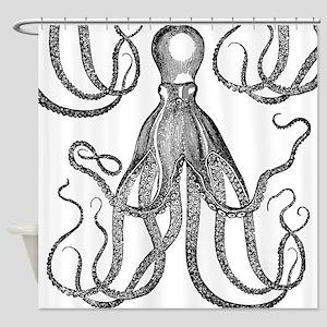 Exquisite Vintage Octopus Shower Curtain