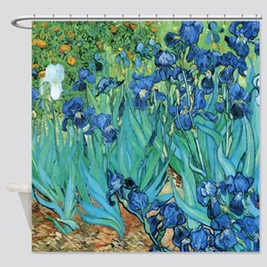 Van Gogh Garden Irises Shower Curtain