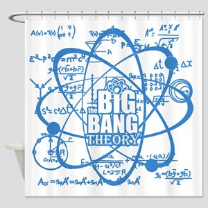 Science Blues Shower Curtain