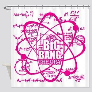 Pink Science Shower Curtain