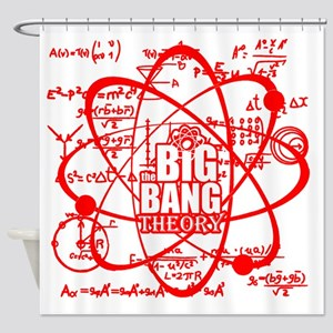 Scarlet Science Shower Curtain