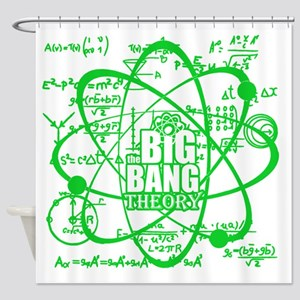 Green Science Shower Curtain