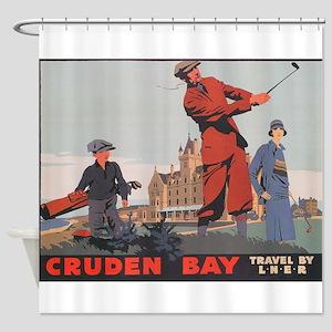 Cruden Bay, Aberdeen, Scotland , Go Shower Curtain