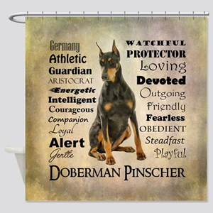 Doberman Traits Shower Curtain