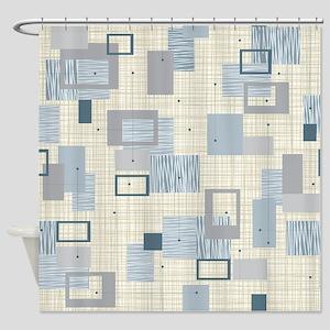 Makanahele Mid Century Modern Shower Curtain