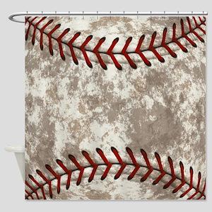 Baseball Vintage Distressed Shower Curtain