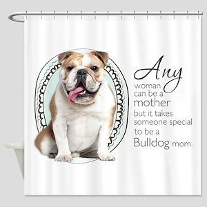 Bulldog Mom Shower Curtain