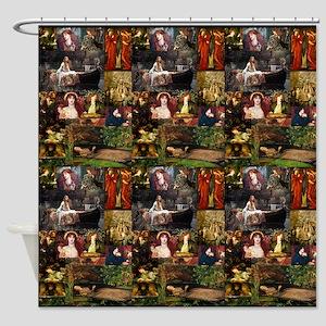 Pre-Raphaelite Collage Shower Curtain