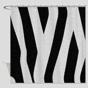 Zebra Fur Print Shower Curtain