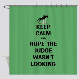 Funny Keep Calm Horse Show Shower Curtain