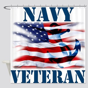 Navy Veteran copy Shower Curtain