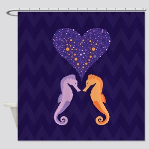 Seahorse Love, Shower Curtain