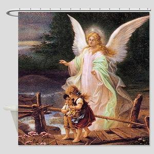 Guardian Angel with Children on Bridge Shower Curt