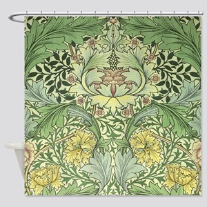 William Morris Floral Design Shower Curtain
