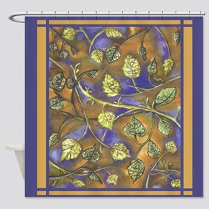Undulating leaves square Shower Curtain