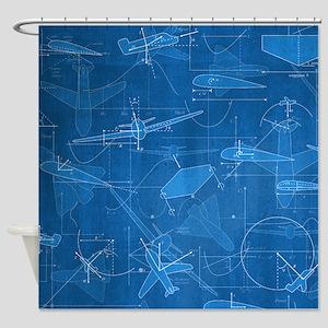 Aerodynamics Shower Curtain