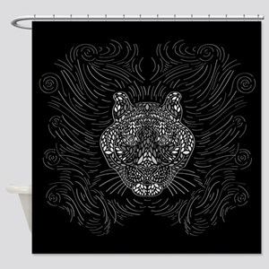 Black And White Tiger, Shower Curtain