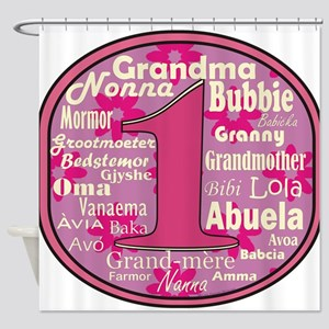 #1 Grandmother Shower Curtain