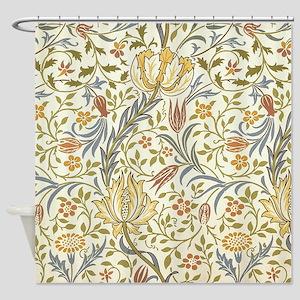 William Morris Floral Shower Curtain