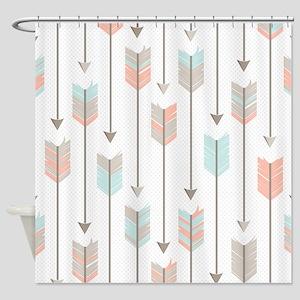 Bohemian Tribal Arrows Pattern Shower Curtain