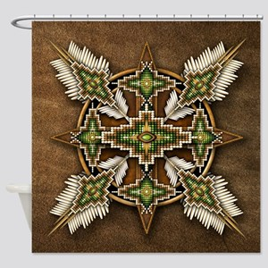Native American Style Mandala 30 Shower Curtain