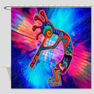Rainbow Kokopelli 2 Shower Curtain