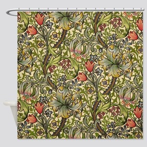 William Morris Golden Lily pattern Shower Curtain