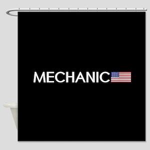 Mechanic: American Flag Shower Curtain