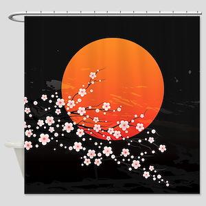 Asian Night Shower Curtain