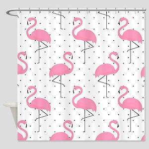 Cute Flamingo Shower Curtain