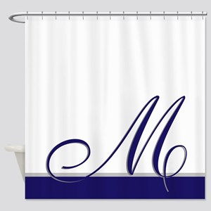 Choose Your Colors Monogram Shower Curtain