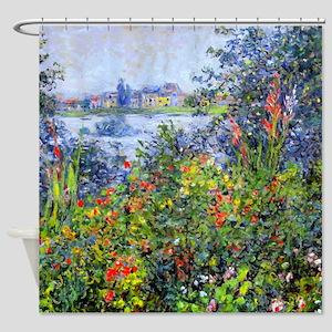 Monet - Flowers at Vetheuil Shower Curtain
