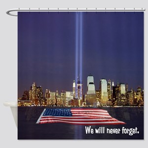 9/11 Tribute - Never Forget Shower Curtain